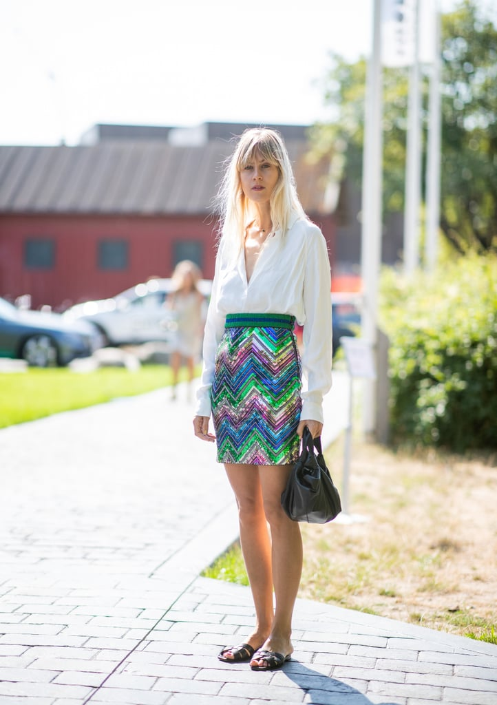 Tuck a Crisp White Blouse Into Your Colourful Skirt