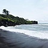 Pa'iloa Black Sand Beach (Hana)