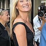 Kate Moss smiled for the cameras.
