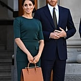Meghan Markle Wearing the Leather Strathberry Midi Tote