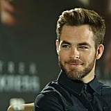 Chris Pine attended a Star Trek Into Darkness press conference in Berlin.