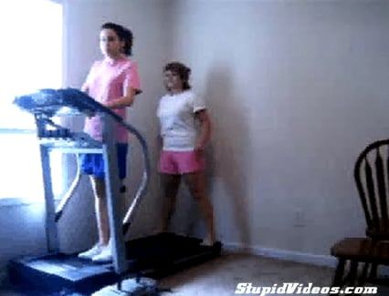 Two Girls, One Treadmill