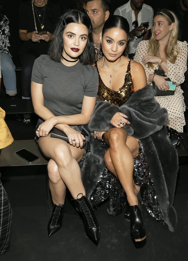 Lucy Hale and Vanessa Hudgens at the Vera Wang New York Fashion Week Show