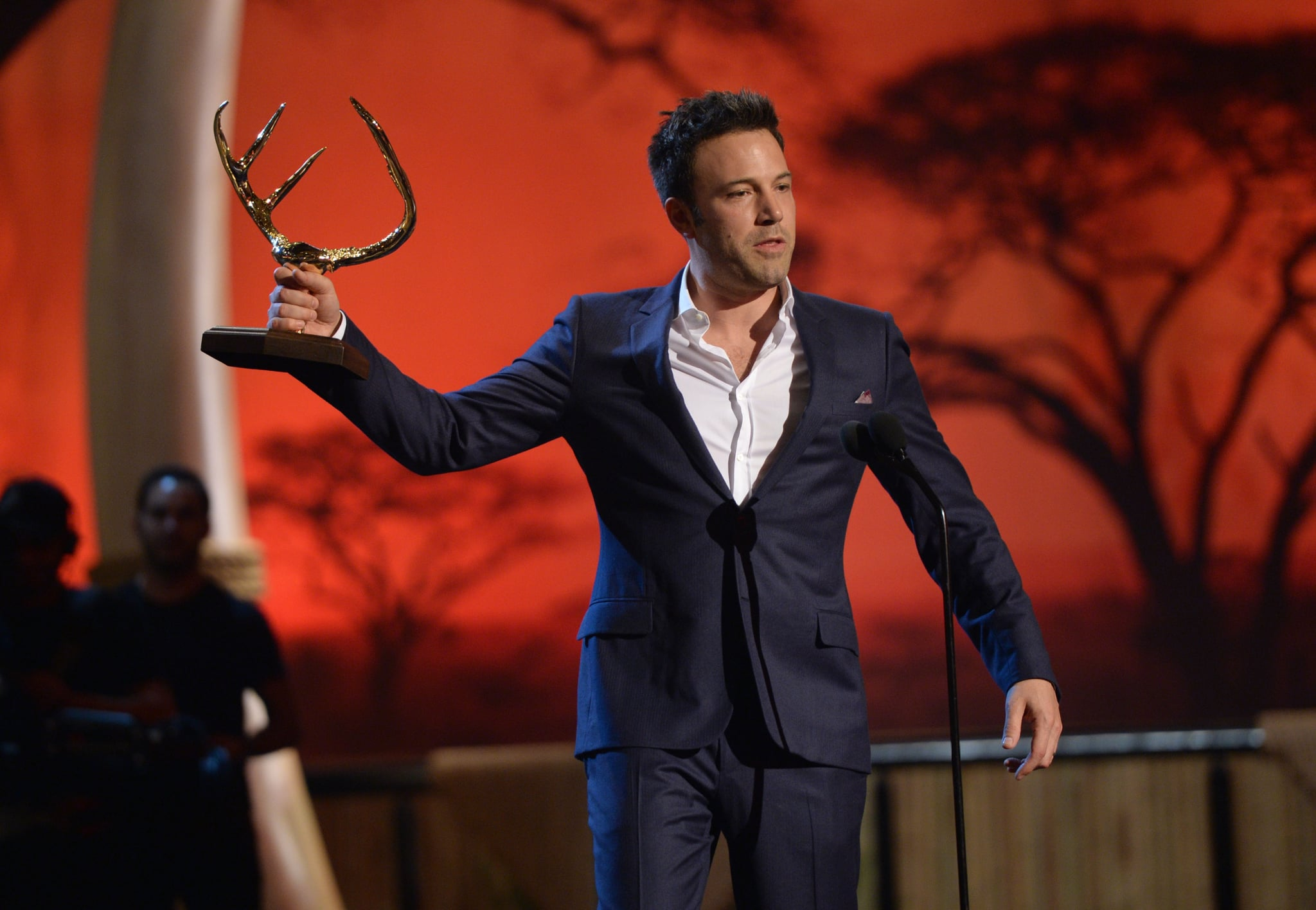 Ben Affleck accepted his guy of the year award.