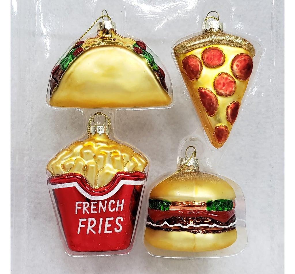 dc8983edeb913 Mini Junk Food Glass Christmas Ornament Set | Cool Christmas ...