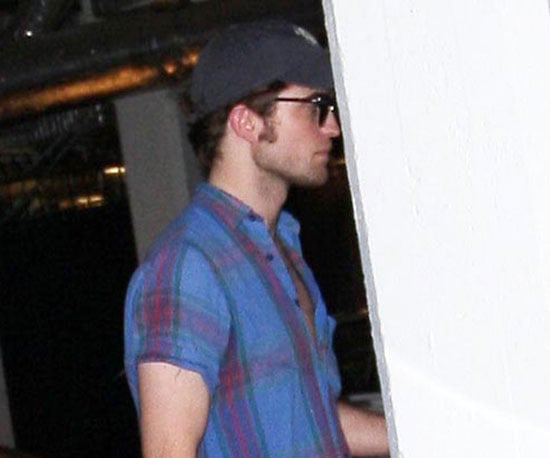 Slide Photo of Robert Pattinson Leaving The Chateau Marmont