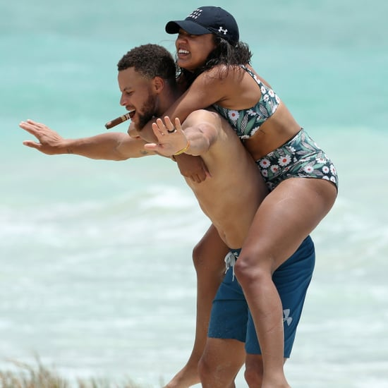 Stephen and Ayesha Curry on the Beach in Hawaii June 2017