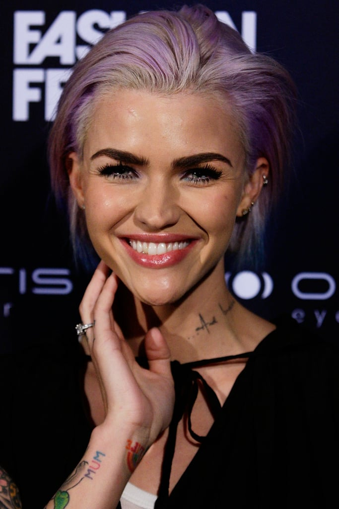 Ruby Rose Blue Hair January 2019