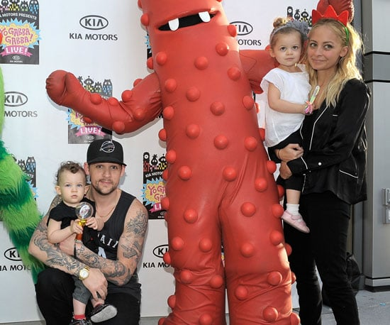 Slide Picture of Nicole Richie With Harlow and Sparrow at Yo Gabba Gabba
