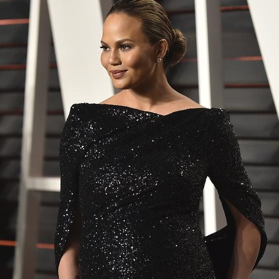 Chrissy Teigen's Dress at Vanity Fair Oscars Party 2016