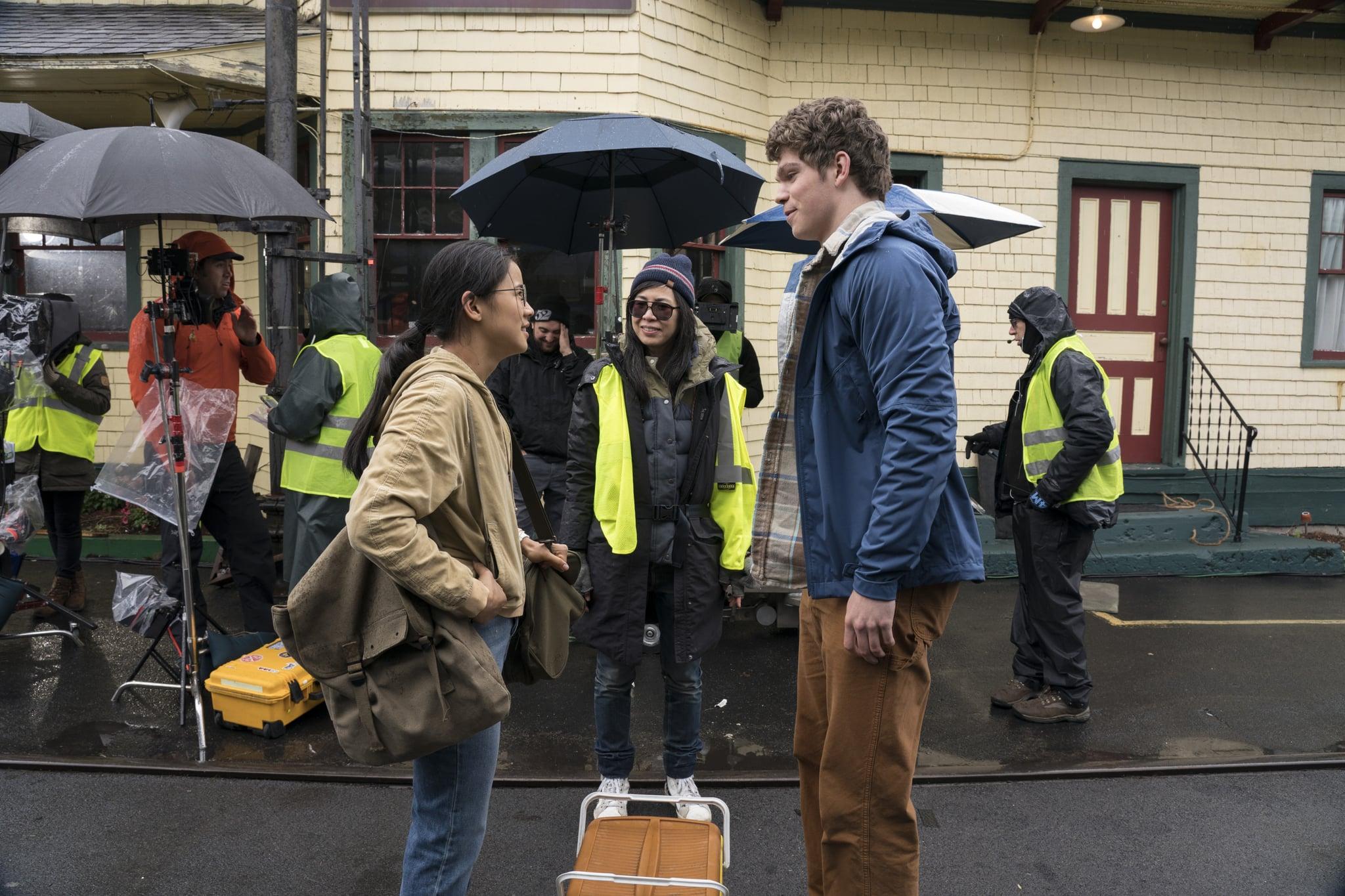 La moitié de celui-ci - Leah Lewis, réalisateur Alice Wu, Daniel Diemer - Crédit photo: Netflix / KC Bailey