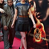 Jennifer Lawrence at a fan event in Madrid.