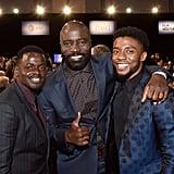 Pictured: Daniel Kaluuya, Mike Colter and Chadwick Boseman