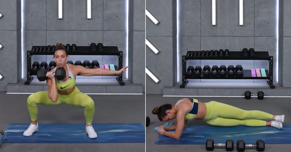 If You Want to Lose Weight, Grab Dumbbells and Do This 40-Minute Legs and Abs Workout