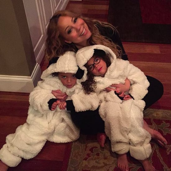 Mariah Carey Carves Pumpkins With Her Kids 2015