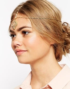 ASOS Filigree Flower Hair Crown with Faux Pearl