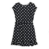 POPSUGAR Collection at Kohl's Tie Waist Dress in Jet Black Macro Dot