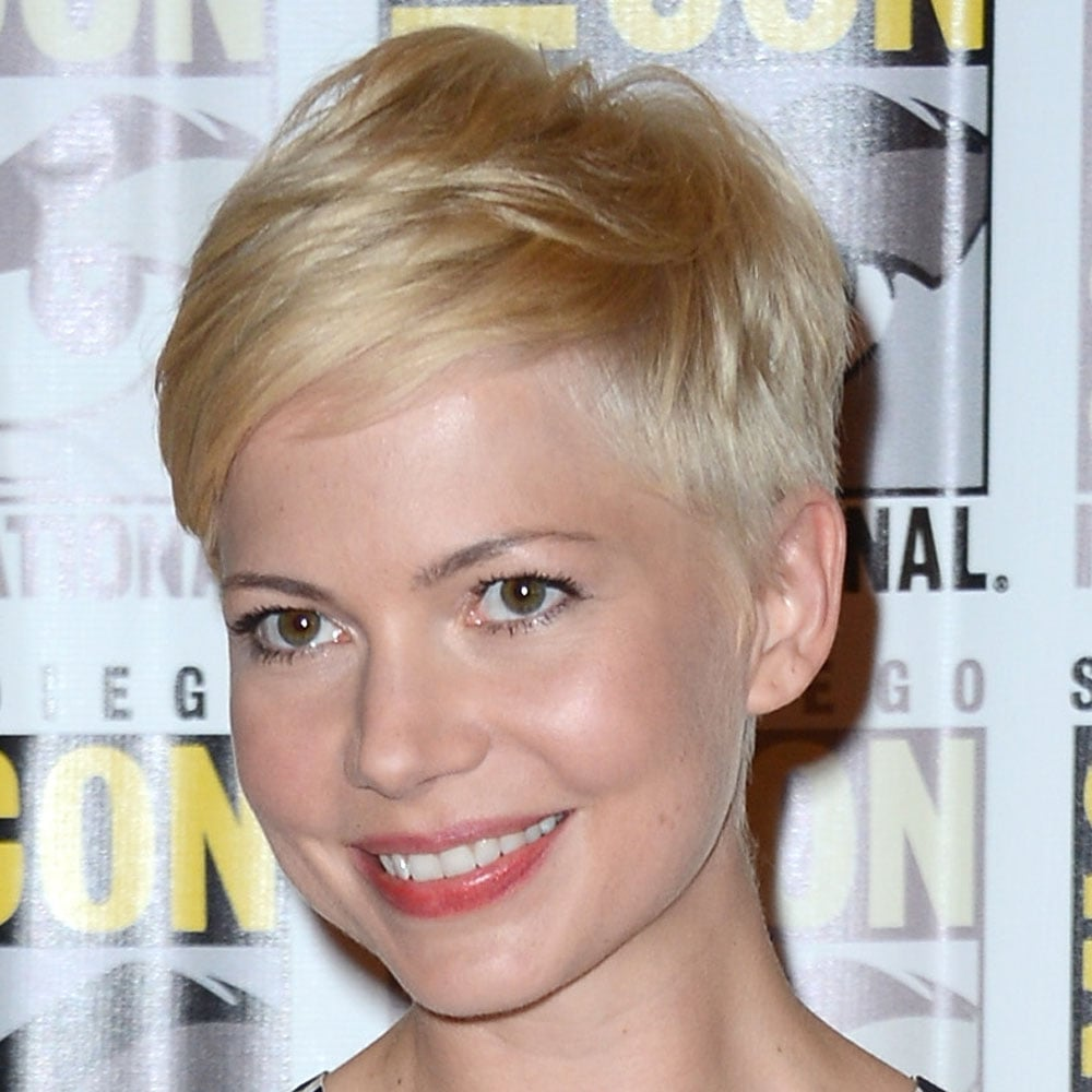 Michelle Williams has set a new standard with her perfect pixie cut. We love her icy cold blonde as well.