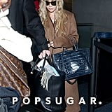 Ashley Olsen carried a navy bag from The Row.