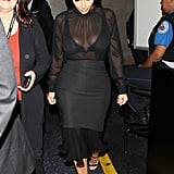 That Time She Was Dressed in All Black