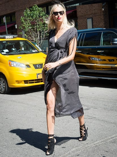 Karolina Kurkova's Pregnancy Style Is Perfection