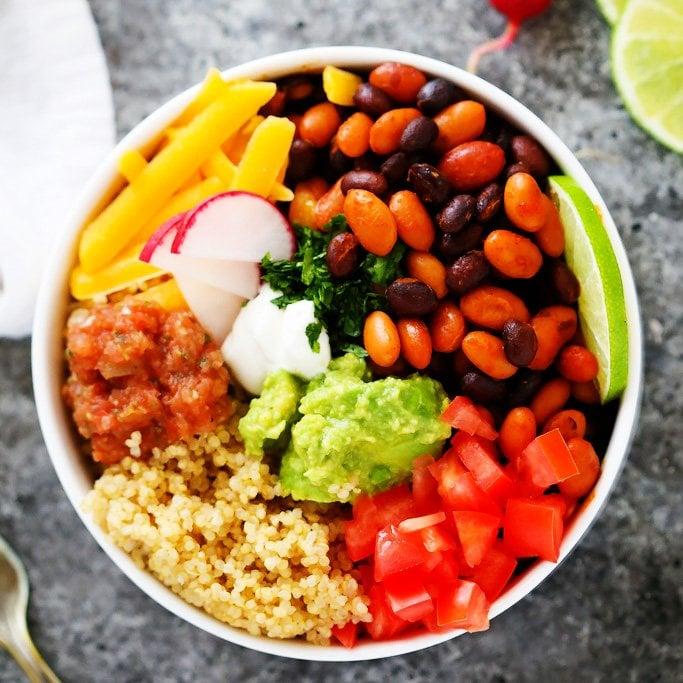 Quinoa Taco Bowls With Guacamole