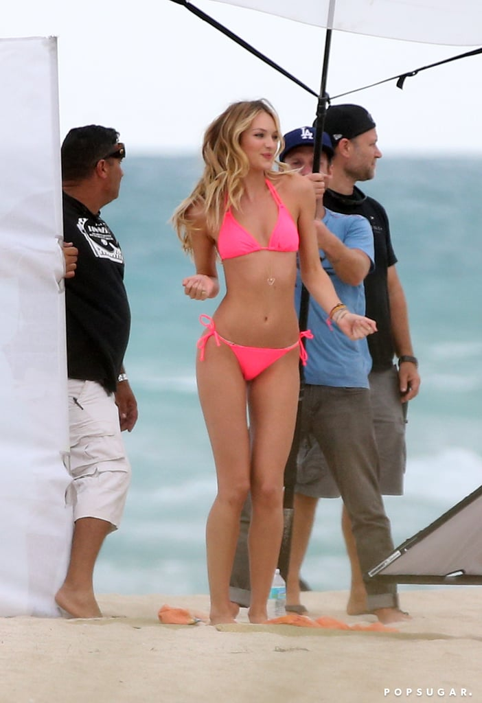 Candice Swanepoel posed in a bikini in Miami.