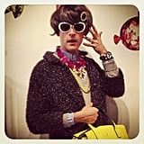 Brad Goreski made a very lovely lady in a wig and dress. Source: Instagram user mrbradgoreski