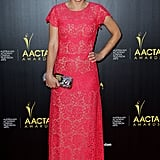 Pia Miranda wore a pink gown to the AACTA Awards.
