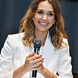 Jessica Alba smiled while speaking at the 2014 Social Innovation Summit in NYC on Thursday.
