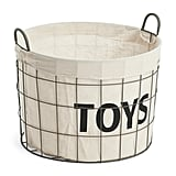 Metal-Lined Kids Storage Basket