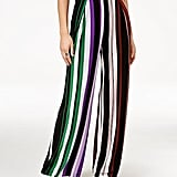 Bar III Striped Wide-Leg Pants