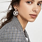 What Goes Around Comes Around Chanel Silver CC Earrings