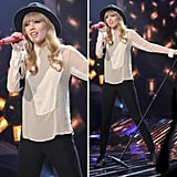 Make Taylor Swift's onstage ensemble work for work.