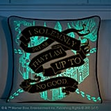 Glow in the Dark Marauder's Map Throw Pillow