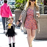 Sarah Michelle Gellar led daughter Charlotte by the hand to ballet class in LA.