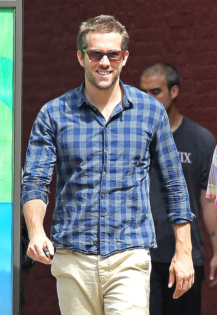 Ryan Reynolds flashed his charming smile as he strolled through a very sunny NYC on Friday. Ryan and girlfriend Blake Lively are both on the East Coast while she is working on her final season of Gossip Girl. Blake and Ryan live together outside the city and spent the early part of July in upstate New York for the Fourth of July week. Blake wore a bikini while Ryan went shirtless for one outing and the two snuck in sweet kisses and PDA at a family picnic. Blake and Ryan are coming up on their first anniversary in a couple months, though they may be at odds over the coming weeks. All-American Blake and Canadian-born Ryan may be rooting for different teams in the London Olympics — check out the other countries stars come from!