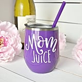 Mom Juice Stainless Steel Purple Wine Tumbler