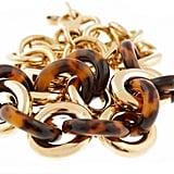 Goldtone Tortoise Chain Link Necklace, $275