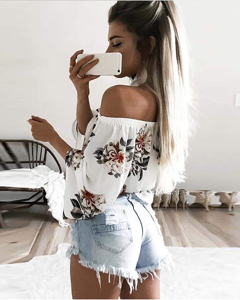 Hibluco Fashion Off Shoulder Top