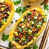 Vegetarian: Taco Spaghetti Squash Boats