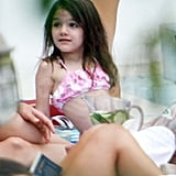 Suri Cruise in a bikini in Miami.