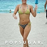 Hayden Panettiere flaunted her bikini body during a trip to Miami Beach.