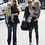 Jessica Simpson and daughter Maxwell had a family outing with her sister Ashlee Simpson and Ashlee's son Bronx on Saturday in LA.