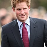 Prince Harry stepped out for the Christmas Day church service at St. Mary's Church in Sandringham, England, in 2008.