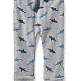 Shark-Patterned Drawstring Joggers