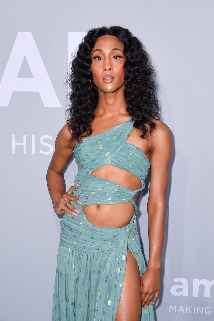 Mj Rodriguez Wears Sexy Etro Gown to Cannes amfAR Gala