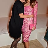 With Elizabeth Hurley