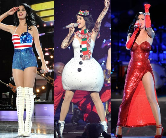 Pictures of Katy Perry in Snowman Costume
