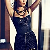 Blake Lively wore leather and lace in the July 2012 issue of Marie Claire.